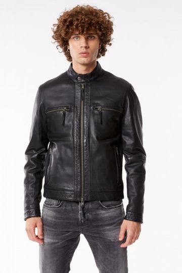 GAS | Black Men's Dagon Lh Rs Solid Jacket