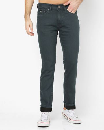GAS | Men's Albert Simple In Slim Fit Charcoal Jeans