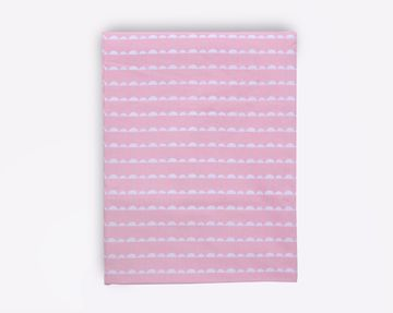 Mothercare | Mila Baby Pink Wave Large Fitted Sheet (Cot Bed)