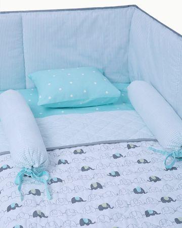 Mothercare | Mila Baby Elephant New Born Bedding Set (Large bundle with full bumper)