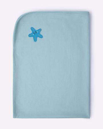 Mothercare | Mila Baby Organic Waffle Towel Green Starfish