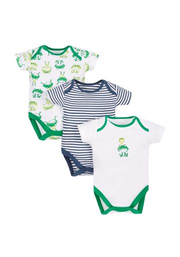 Mothercare | Boys Frog Bodysuits - Pack Of 3 - Green