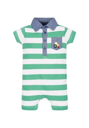 Mothercare | Boys Pique Polo Shirt Romper - Green