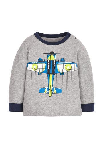 Mothercare | Boys Plane T-Shirt - Grey