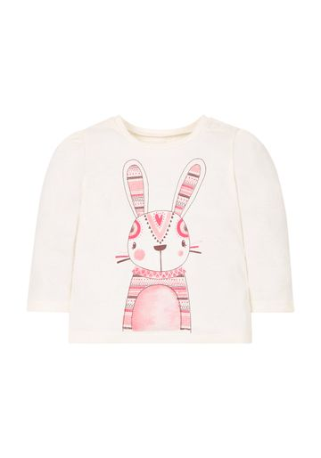 Mothercare | Girls Bunny T-Shirt  - Cream