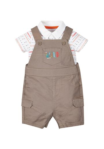 Mothercare | Boys Aztec Bodysuit And Dungaree Set - Multicolor