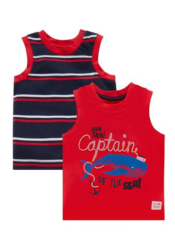 Mothercare | Boys Captain Vests - 2 Pack - Red