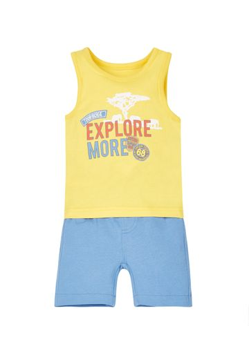 Mothercare | Boys Vest And T-Shirt Set - Multicolor