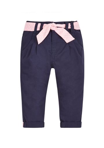 Mothercare   Girls Twill Chino Trousers - Navy