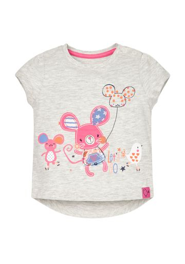 Mothercare | Girls Skating Mice T-Shirt - Grey