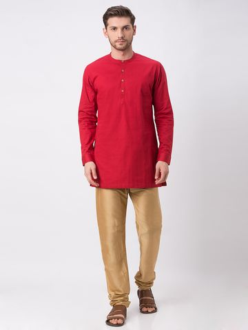 Ethnicity | Ethnicity Red Cotton Kurta