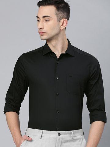The Bear House | Men's Black Formal Shirt