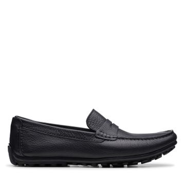 Clarks | HAMILTON WAY BLACK LEATHER LOAFERS