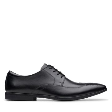 Clarks | BAMPTON WING BLACK LEATHER FORMAL LACE UP