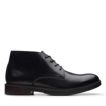 Clarks | PAULSON MID BLACK LEATHER