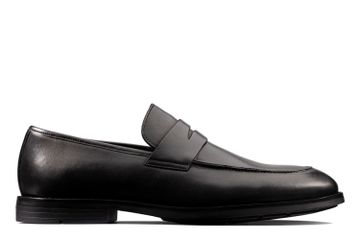 Clarks | RONNIE STEP BLACK LEATHER