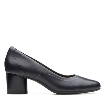 Clarks | UN COSMO STEP BLACK LEATHER