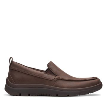 Clarks | TUNSIL WAY BROWN CASUAL SLIP ON