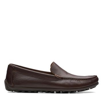 Clarks | HAMILTON FREE DARK BROWN LEATHER LOAFERS