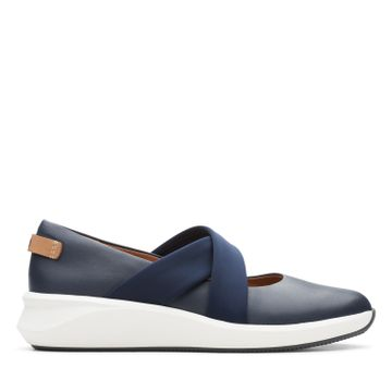 Clarks | UN RIO CROSS NAVY LEATHER