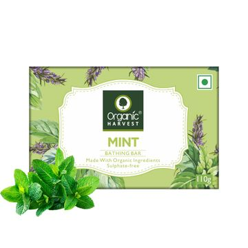 Organic Harvest | Organic Harvest Mint Bathing Bar, 110gm