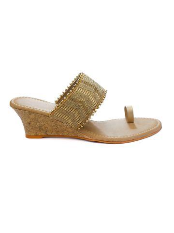 Trends & Trades | Women Gold Heels