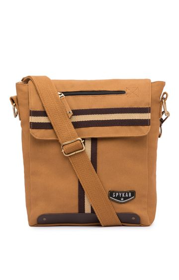spykar | Spykar Light Brown Canvas Messenger Bag