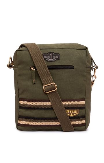 spykar | Spykar Olive Canvas Messenger Bag