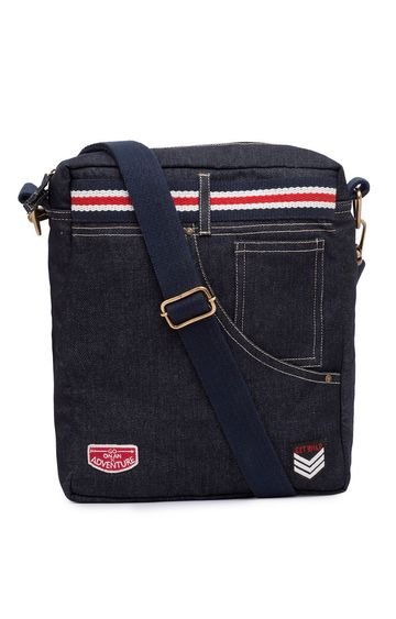 spykar | Spykar Blue Canvas Messenger Bag