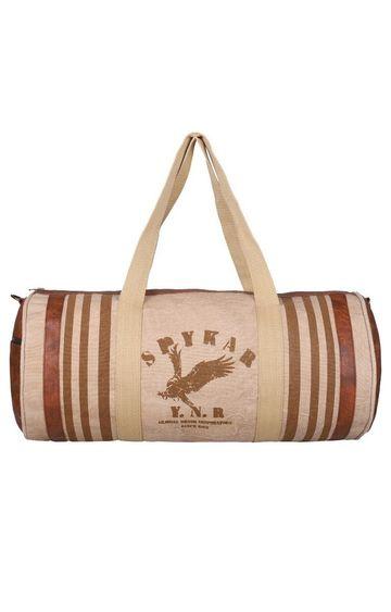 spykar | Spykar Beige Canvas Duffle Bag