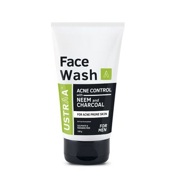 Ustraa | Face Wash - Neem & Charcoal - 100 ml/gm
