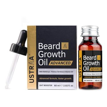 Ustraa | Beard Growth Oil - Advanced (With DHT Boosters) - 60ml