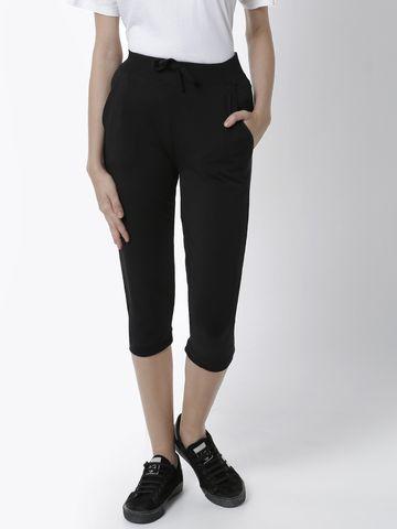 De Moza | De Moza Women's Yoga Pant Solid Cotton Black