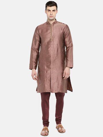 Ethnicity | Ethnicity Red Polyester Blend Men Kp Set