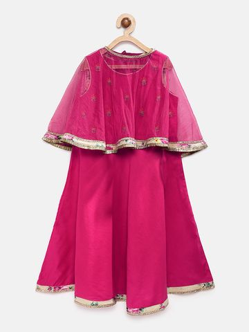 Ethnicity | Ethnicity Pink Polyester Blend Kids Girls Skd
