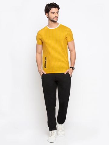spykar | Spykar Black Polyester Slim Fit Trousers