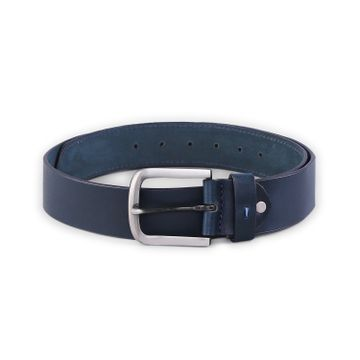 spykar | SPYKAR Navy Blue  Genuine Leather BELT