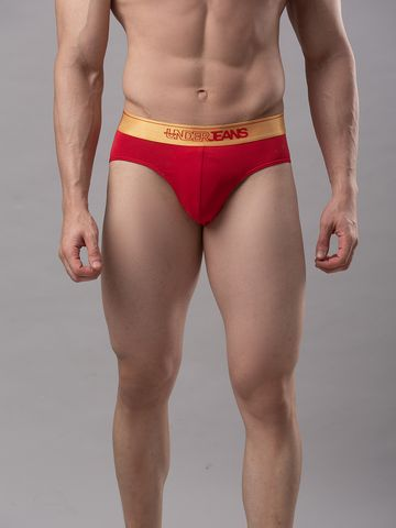 spykar | Underjeans Red Cotton Brief