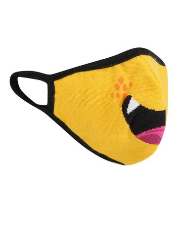 Soxytoes | Soxytoes Yellow Monster Stylish Protective Super Safe Washable Knitted Cotton Kid's Face Mask