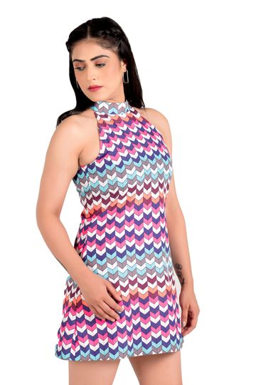 EUDORA CUT | Multicolor Wrap Dress For Women