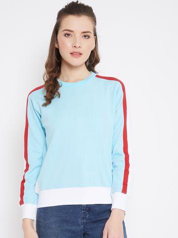 Jhankhi | Women's Sweatshirt Full Sleeve Striped