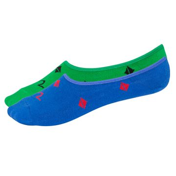 spykar | Spykar Green and Blue Printed Socks - Pack of 2