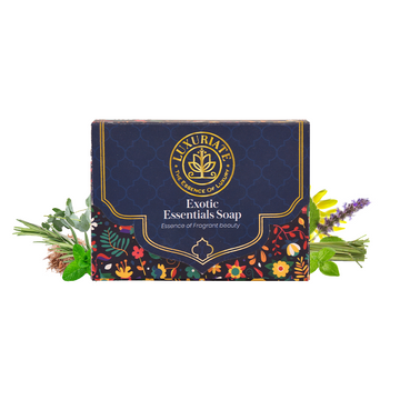 LUXURIATE | LUXURIATE Exotic Essentials Essense of Fragrant Beauty Soap Bar for Men and Women,125 gm