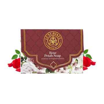 LUXURIATE | LUXURIATE Rose Essence of Fragrant Beauty Soap Bar for Men and Women,125 gm