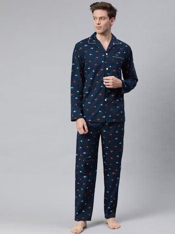 The Bear House   Men's Printed Night-Suit