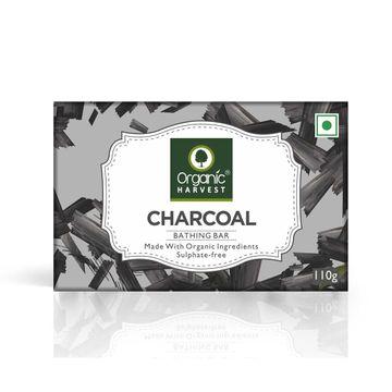 Organic Harvest | Organic Harvest Charcoal Bathing Bar, 110gm