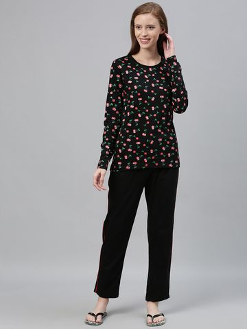 Kryptic | Kryptic womens 100% Cotton printed pyjama set