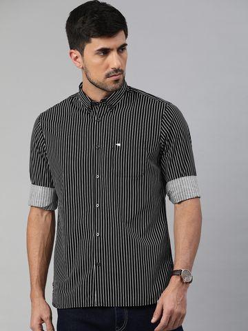 The Bear House | Men's Black Striped Shirt