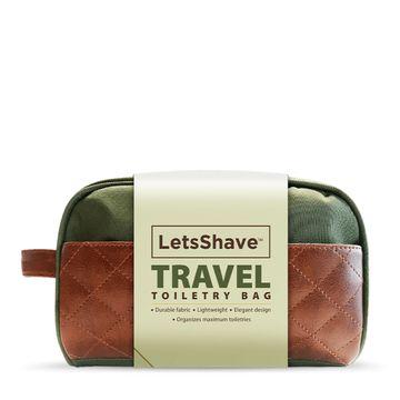 LetsShave   LetsShave Toiletry Bag - Water Resistant - Green
