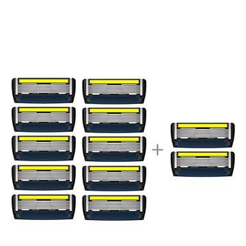 LetsShave   LetsShave Pro 6 Advance Shaving Blades - Pack of 10 + 2 Razor Blades Free
